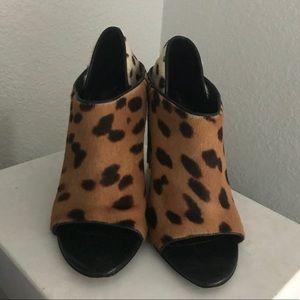 Alexander Wang calf hair leopard wedges